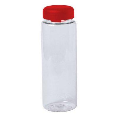 Vandflaske Til Køleskabet - Gennemsigtig Plastik - 500 Ml - Rød