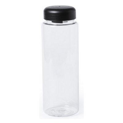 Vandflaske Til Køleskabet - Gennemsigtig Plastik - 500 Ml - Sort