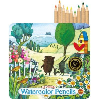 24 Akvarel Farveblyanter - På Vej Til Havet - Eeboo