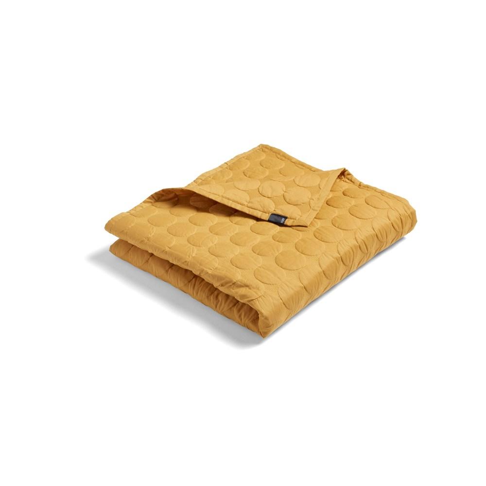 Hay sengetæppe - Mega Dot - mustard (235 x 245)