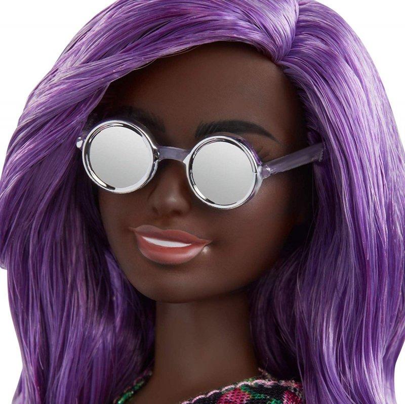 Barbie - Fashionista Dukke - Blomster Kjole - Lilla Hår