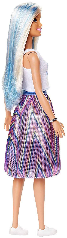 Barbie - Fashionista Dukke - Dream All Day Nederdel - Blå Hvidt Hår