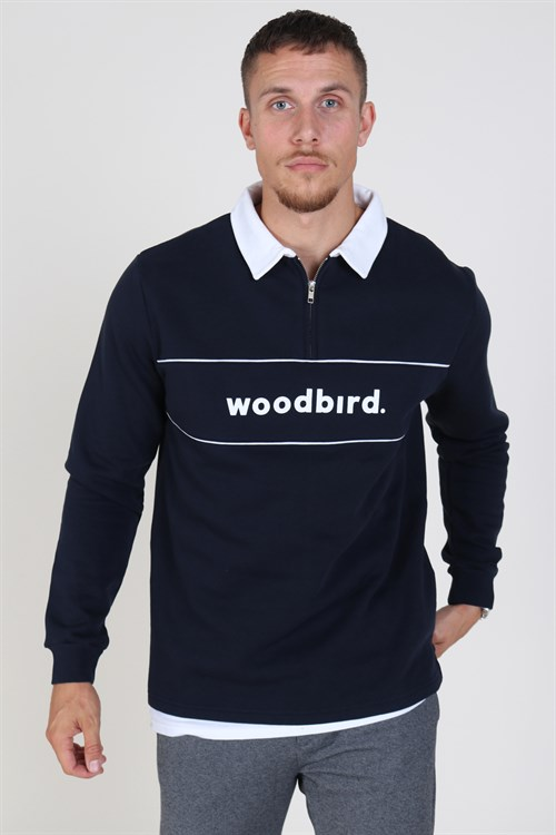 Woodbird Crilly Sweat Navy