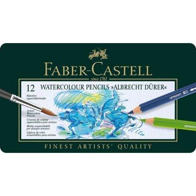 Faber-Castell - Akvarel Farveblyanteralbrecht Dürer, Metalæske Med 12 Stk - 117512