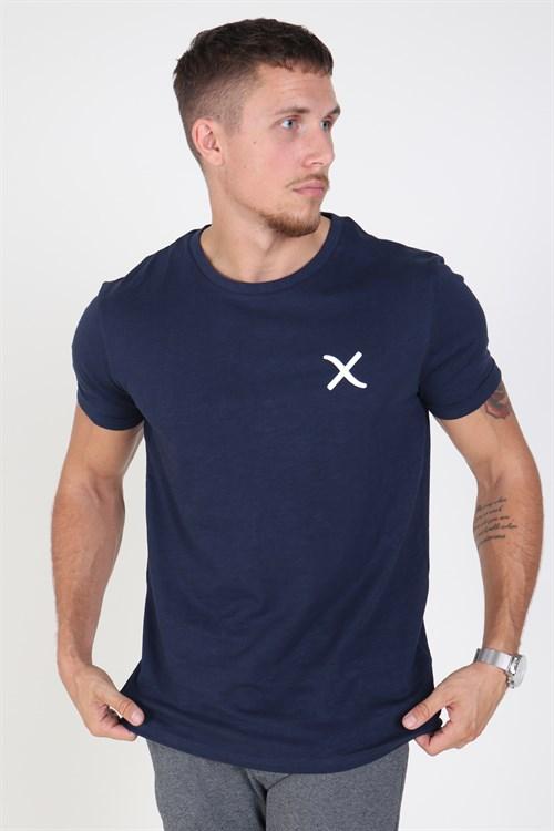 Clean Cut Logo T-shirt Navy
