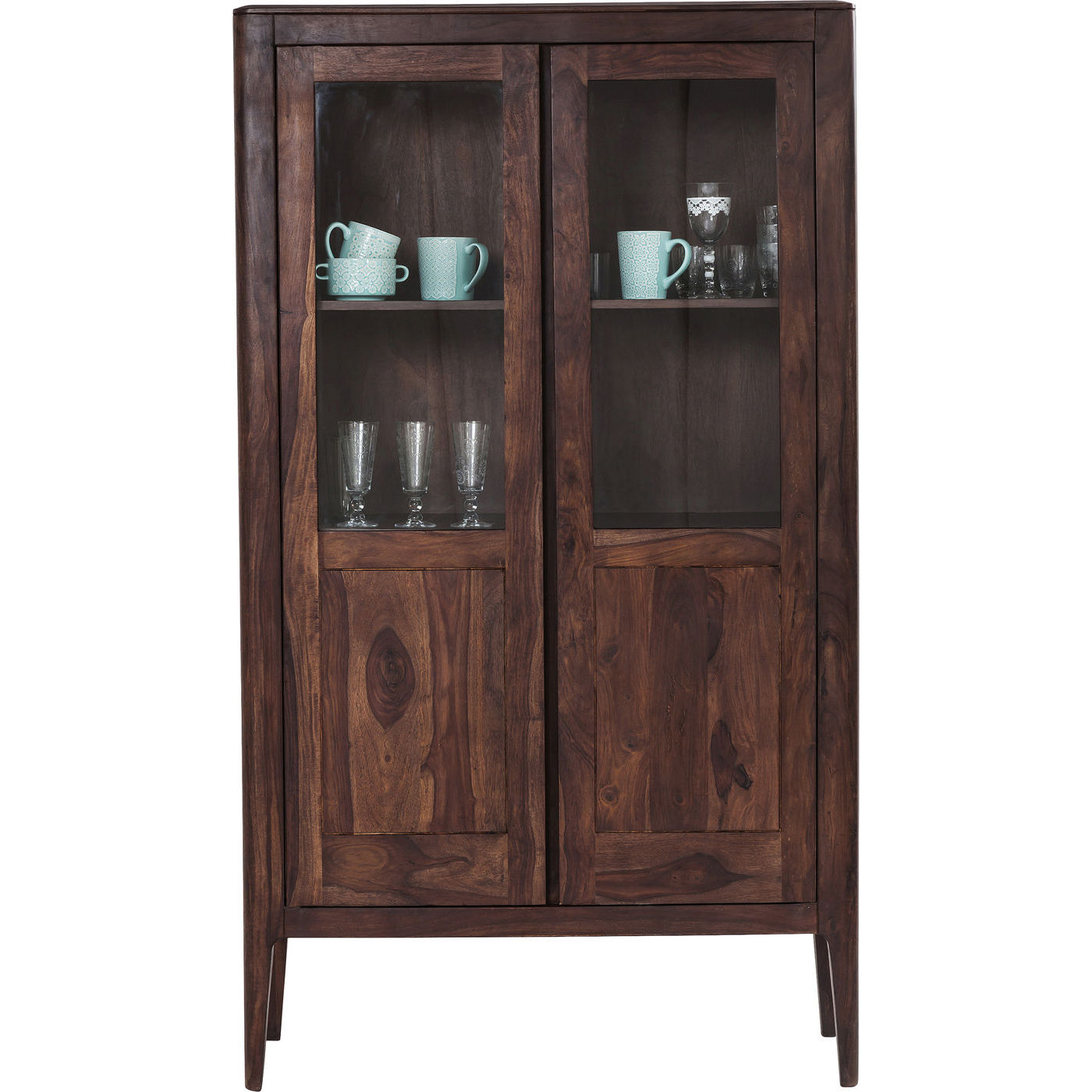 KARE DESIGN Brooklyn Walnut Display vitrineskab - valnddebrunt sheesham/palisander, 2 lger