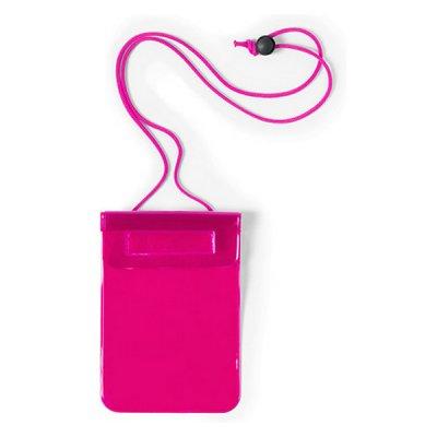Vandtæt Mobilpose Cover Til iPhone Og Android Smartphones - Fuksia
