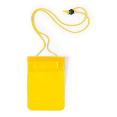 Vandtæt Mobilpose Cover Til iPhone Og Android Smartphones - Gul