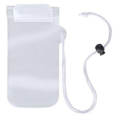 Vandtæt Mobilpose Cover Til iPhone Og Android Smartphones - Hvid