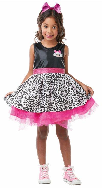L.O.L Surprise - Diva Kostume - Kjole Med Leopard Print - Medium