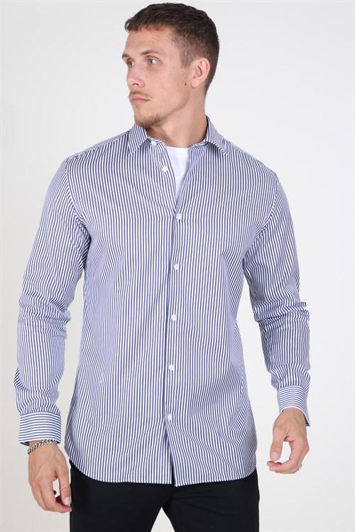 Selected Slim Pelle Skjorte Dark Blue