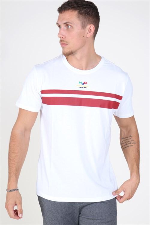 H2O Houton T-shirt White/Rhubarb