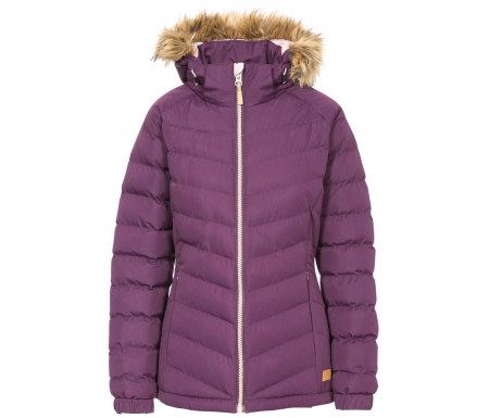 Trespass Nadina - Fiberjakke med hætte dame - Purple
