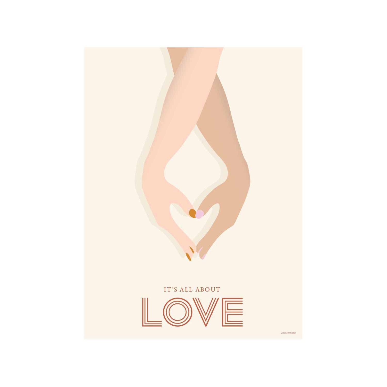 VISSEVASSE - It´s all about love - 50x70 cm