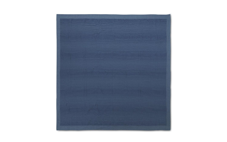 Normann Copenhagen - Slumber sengetæppe - Fading Stripes mørkeblå