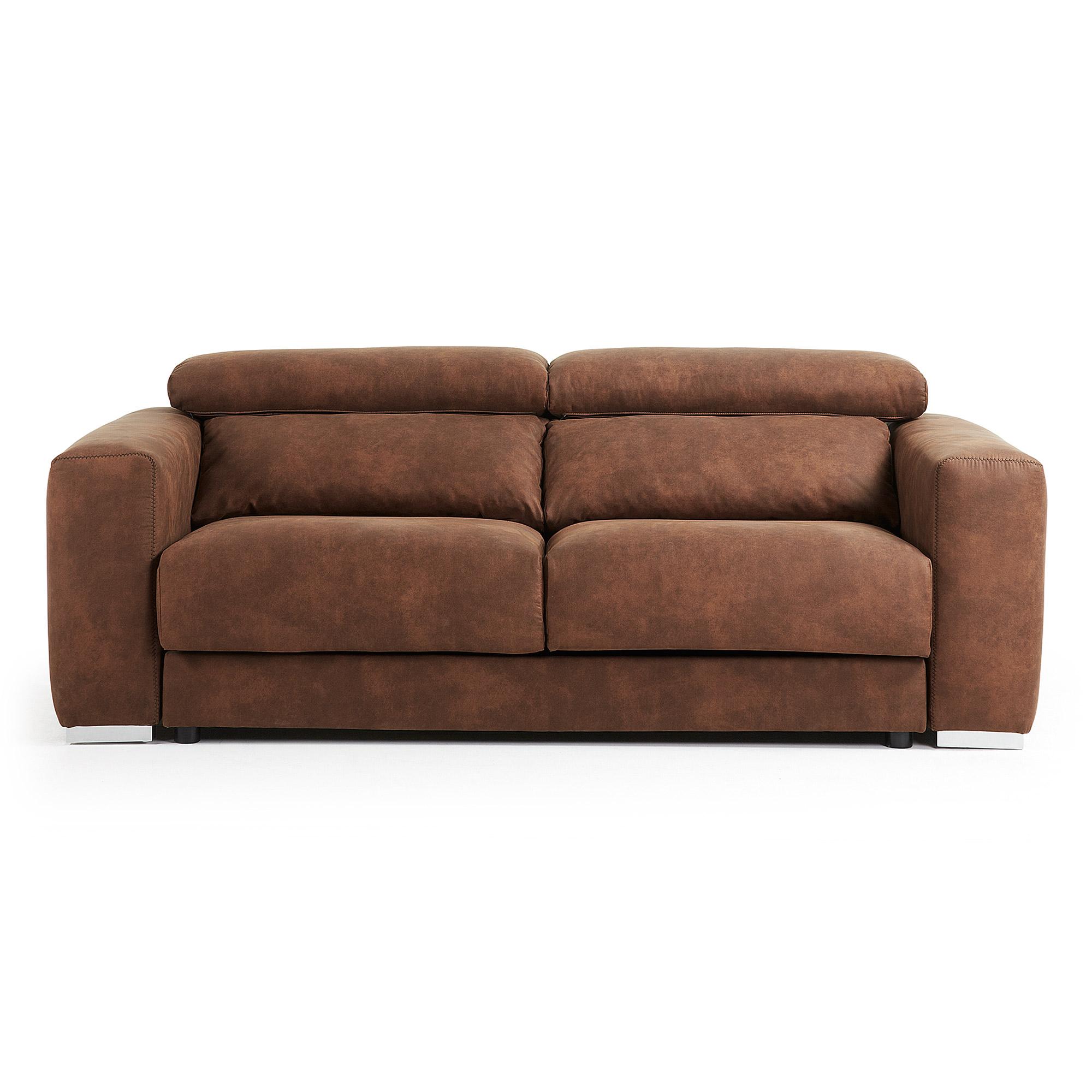 LAFORMA Singapore sofa - rustbrunt stof, justerbar, 3 pers.
