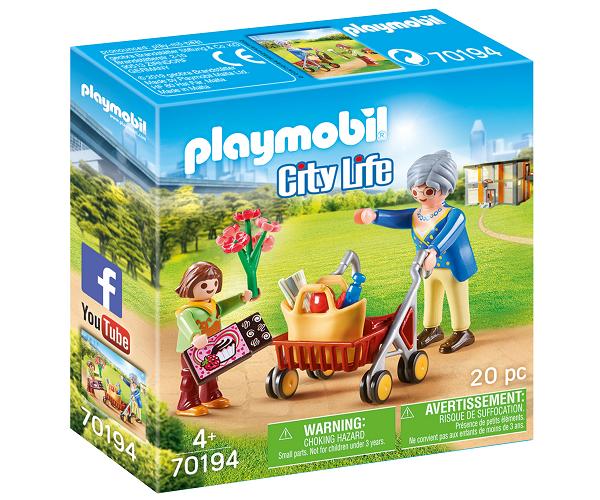 Bedstemor med rollator - PL70194 - PLAYMOBIL City Life