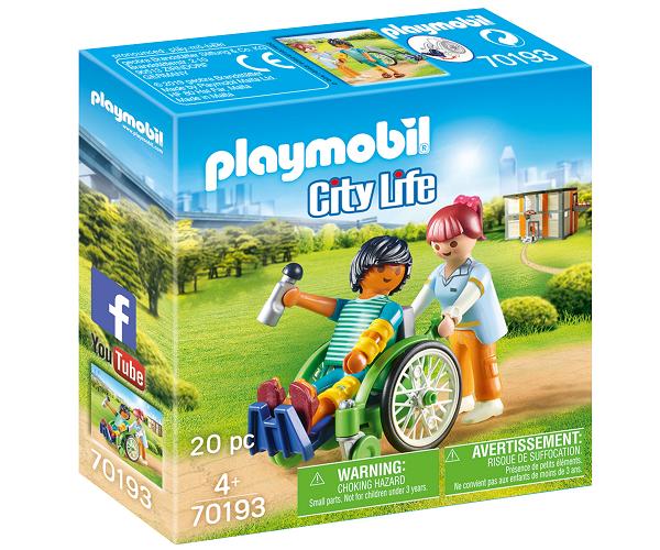 Patient i kørestol - PL70193 - PLAYMOBIL City Life