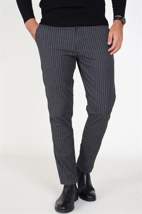 Solid Barro Bukser Dark Grey Melange