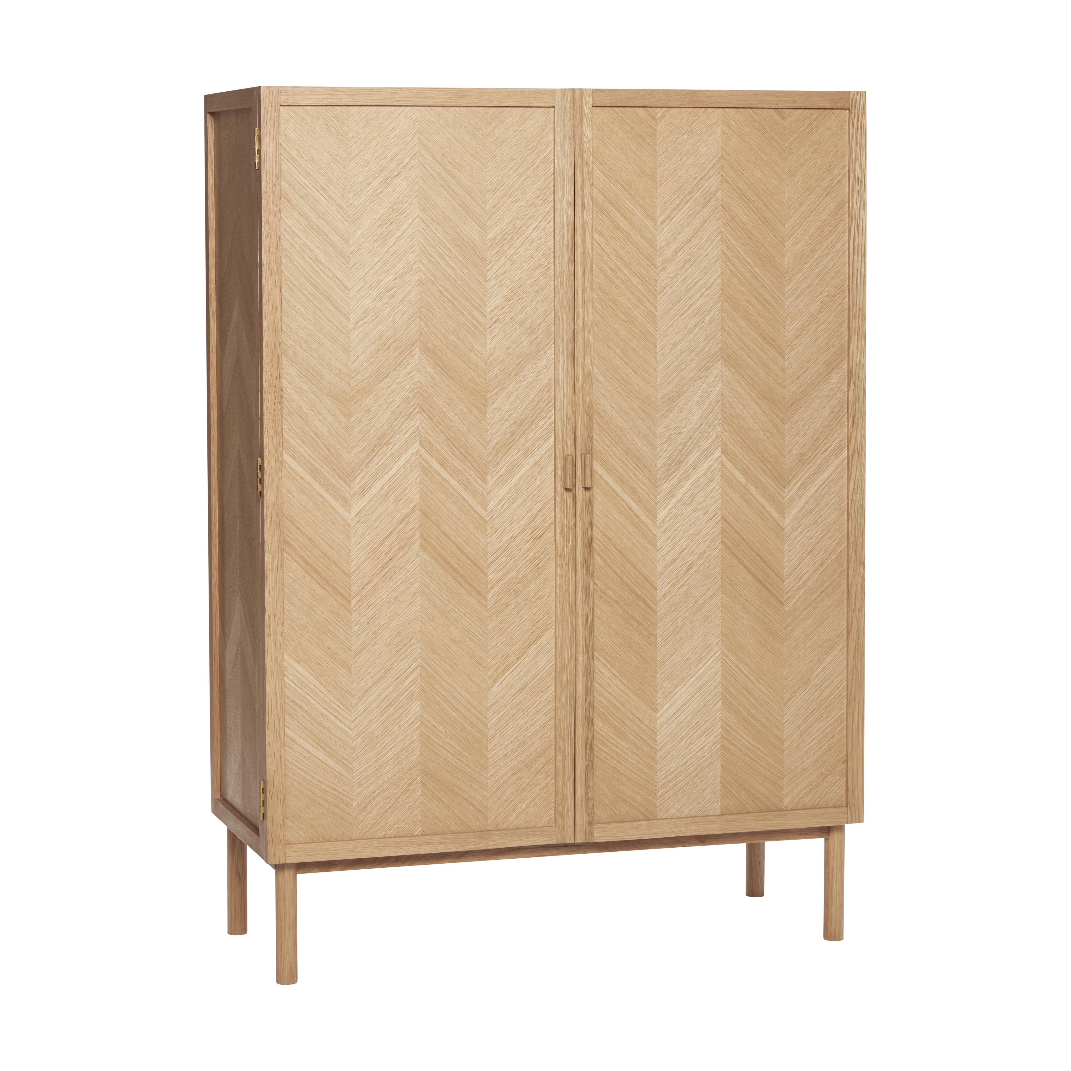 Cabinet, oak, herringbone, nature - Hübsch.