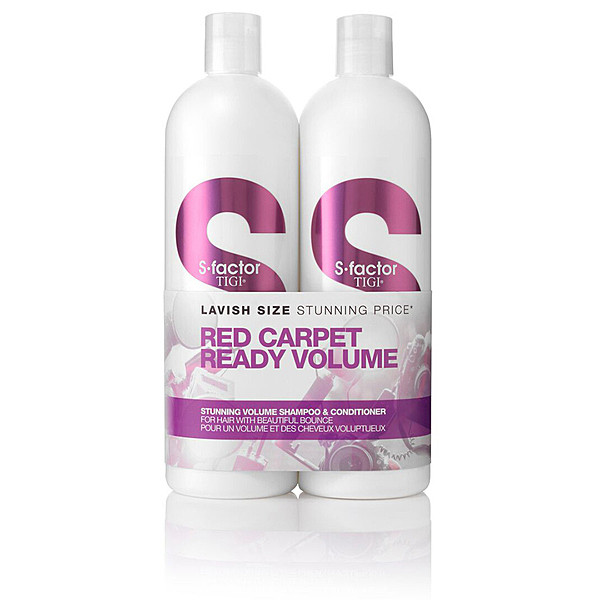 Tigi S-Factor Stunning Volume Shampoo og Conditioner 2x750 ml