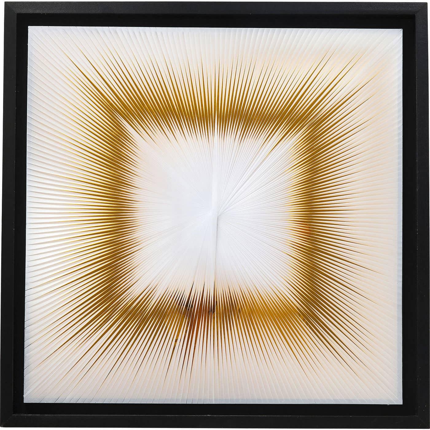 KARE DESIGN Wall Art Beam vgdekoration - gul/hvid/sort papir/hr/akryl/tr (90x90)
