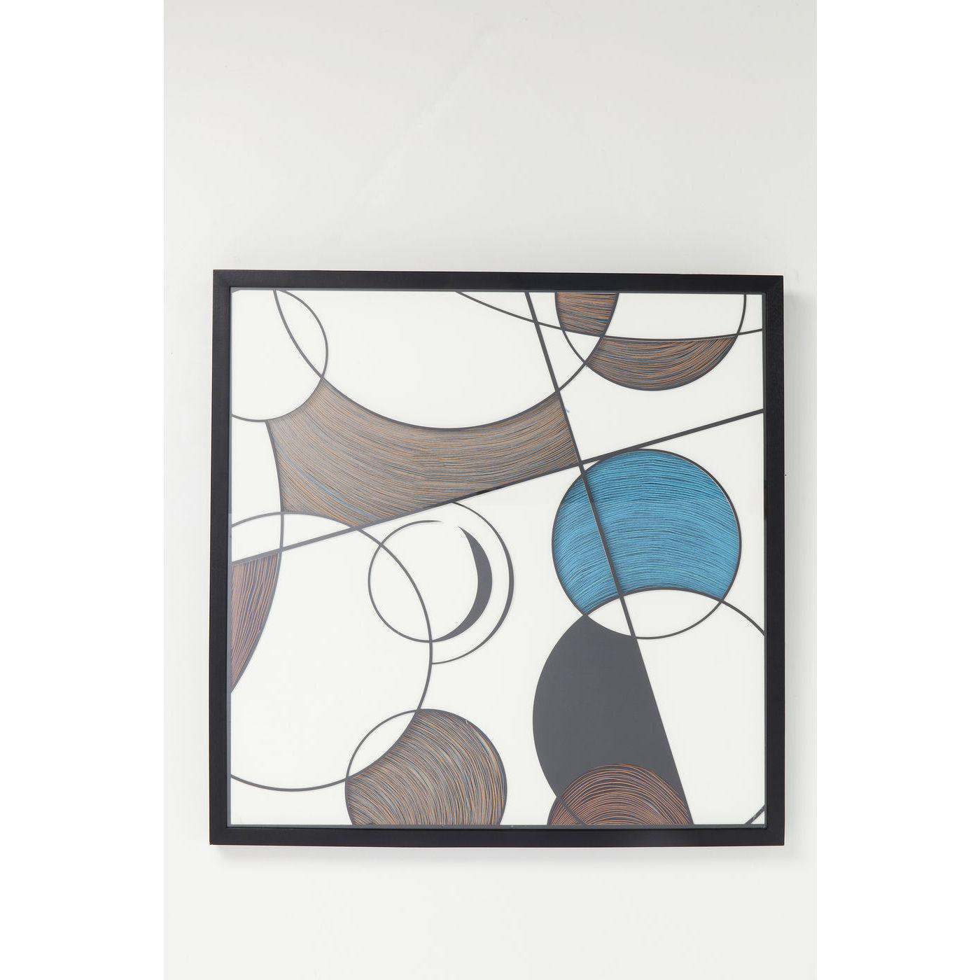 KARE DESIGN Wall Art Circles vgdekoration - multifarvet akryl/papir/hr/tr (90x90)