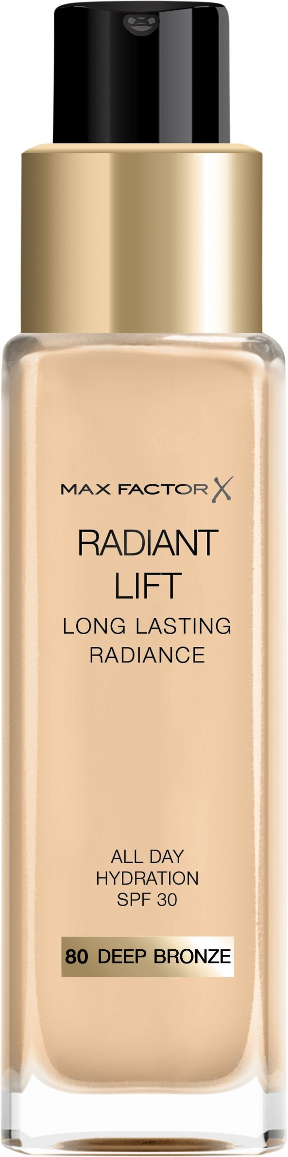 Max Factor Foundation - Radiant Lift Long Lasting Radiance - 080 Deep Brown
