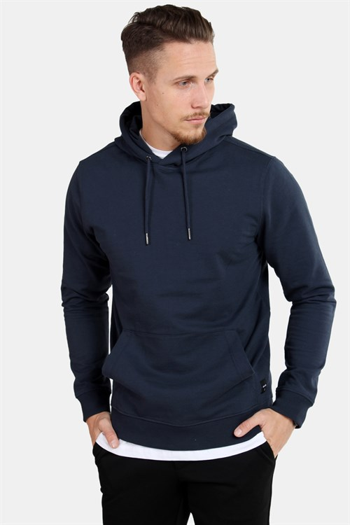 Only & Sons Basic Sweat Hoodie Unbrushed Blue Nights