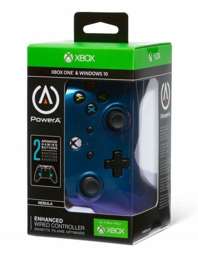 Powera - Enhanced - Gamepad Controller Til Xbox One - Cosmos Nebula