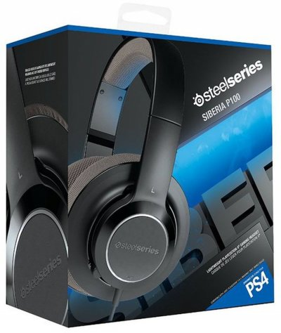 Steelseries Siberia P100 - Komfortabelt Gaming Headset Til PS4 - Sort