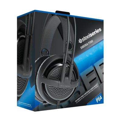 Steelseries Siberia P300 V3 - Komfortabelt Gaming Headset Med Mikrofon - Sort