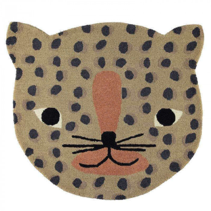 Oyoy leopard tæppe (84x94 cm)