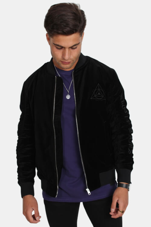 Jack & Jones Velvet Bomber Jakke Black