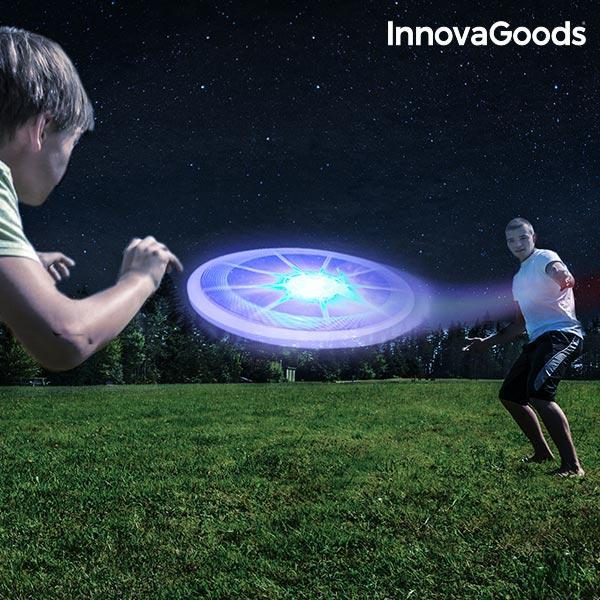 Multifarvet LED Frisbee