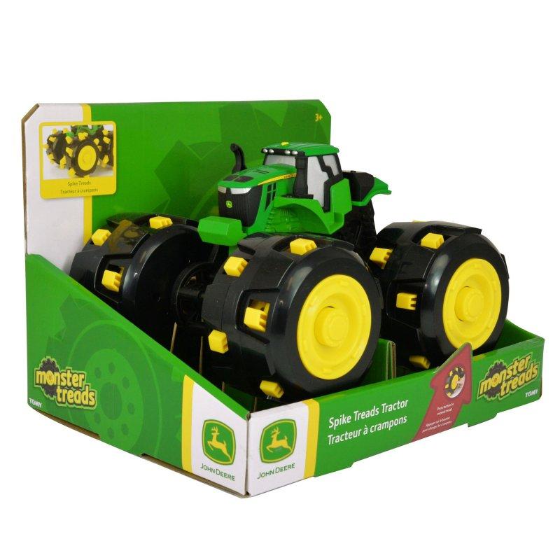 John Deere Legetøjstaktor - Monster Traktor Med Pigdæk