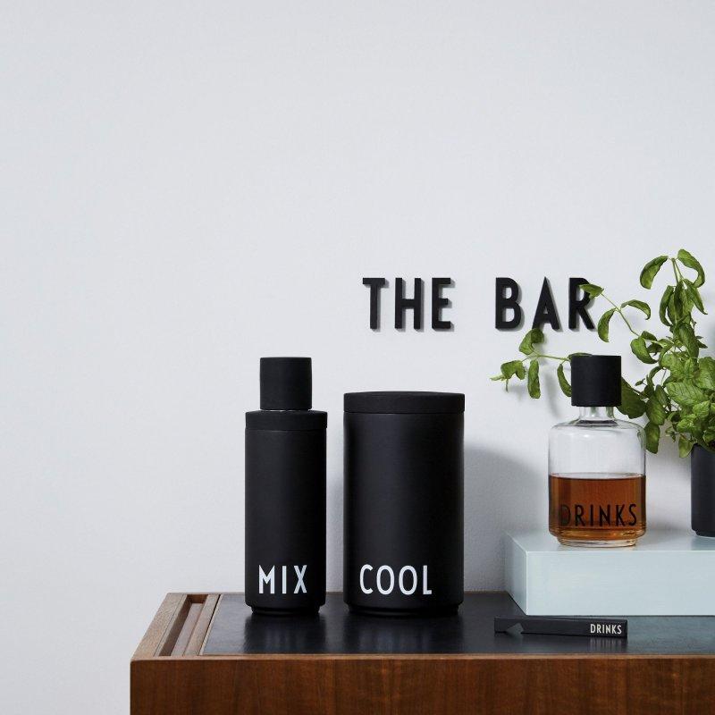 Design Letters - Cocktail Drinks Mixer Sæt - Sort