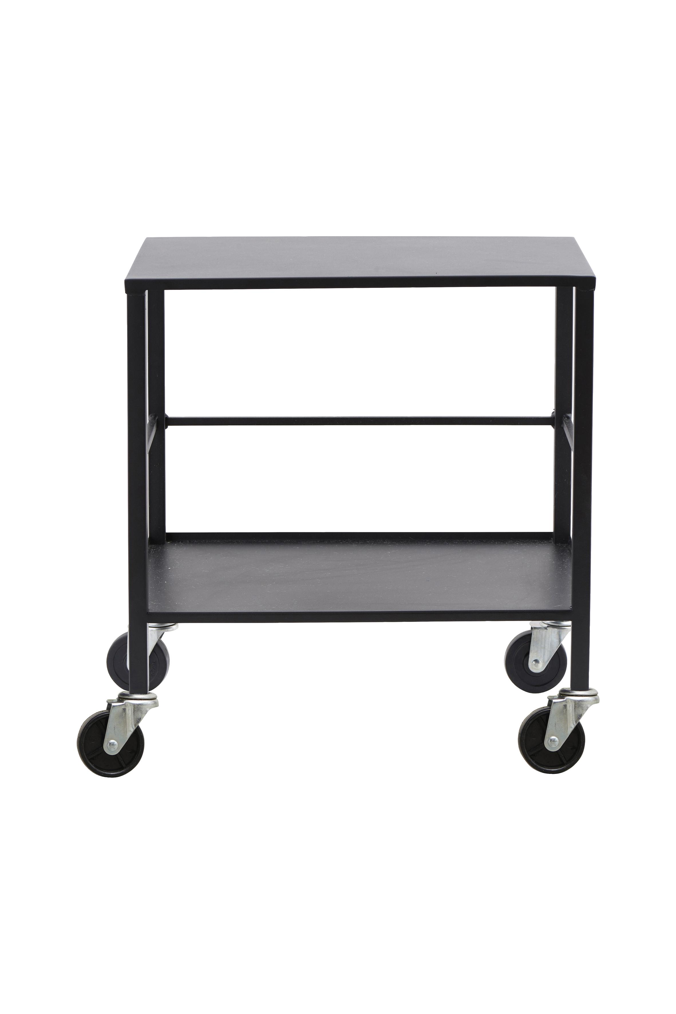 HOUSE DOCTOR Office trolley - gr metal, 2 hylder, (55x35cm)
