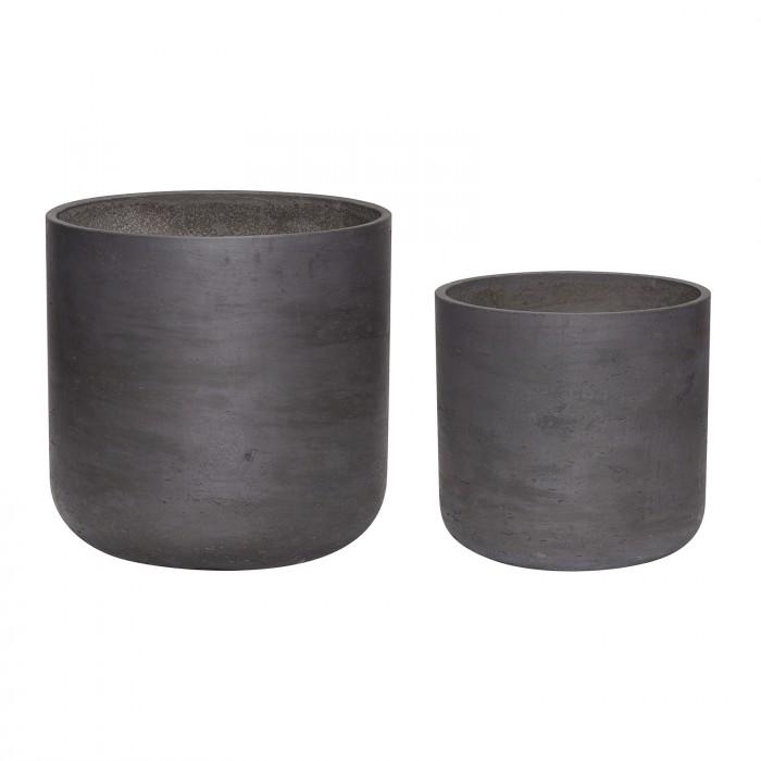 Hübsch potte cement sort stk 2