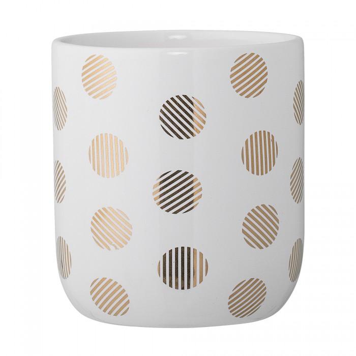Bloomingville krukke (hvid keramik)