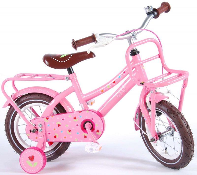 Volare - Børnecykel Med Støttehjul - 12'' Hjul - Pink - 3-4 År