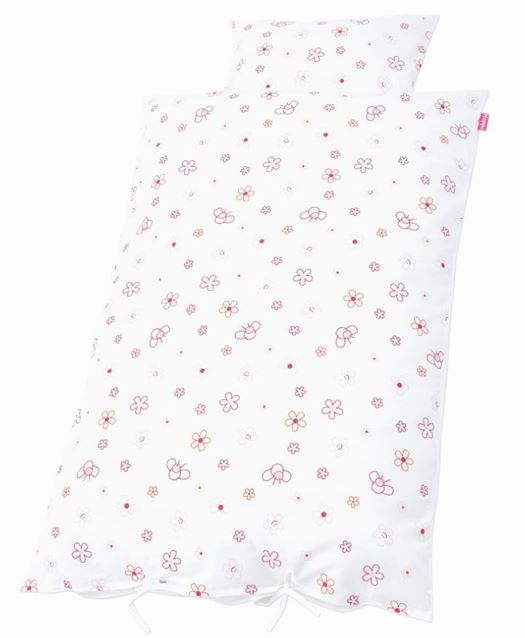Junior sengetøj, Bier og blomster pink - Hoppekids