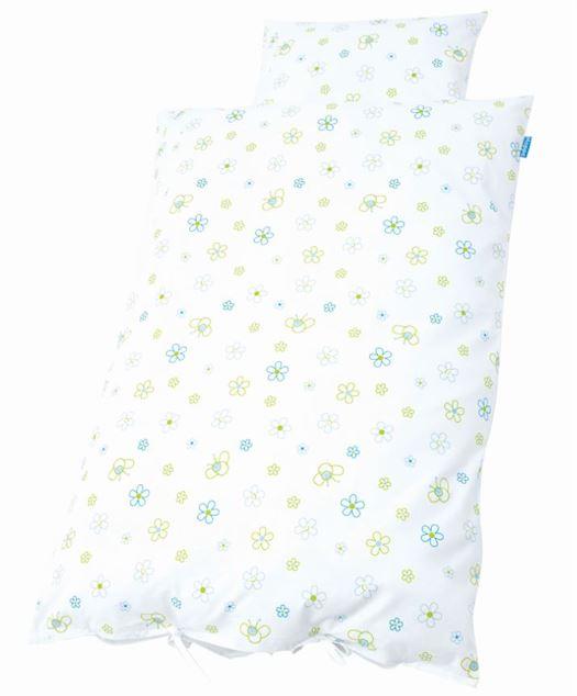 Junior sengetøj, Bier og blomster blå - Hoppekids