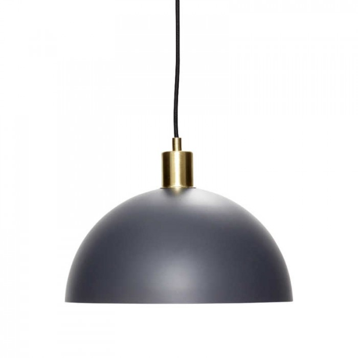 Hübsch pendel messing/grå (ø30 cm)