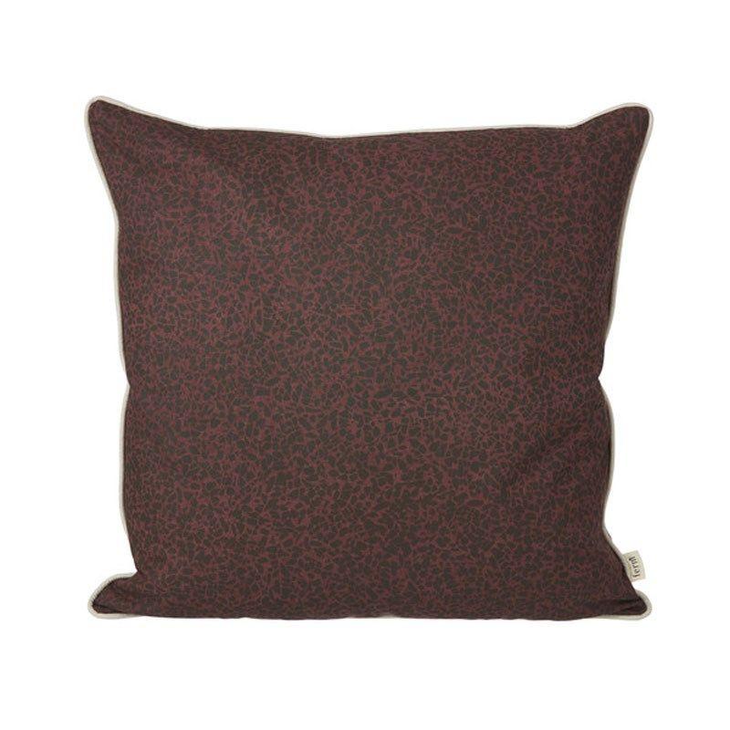 Ferm Living pude - Terrazzo Cushion - bordeaux 50x50