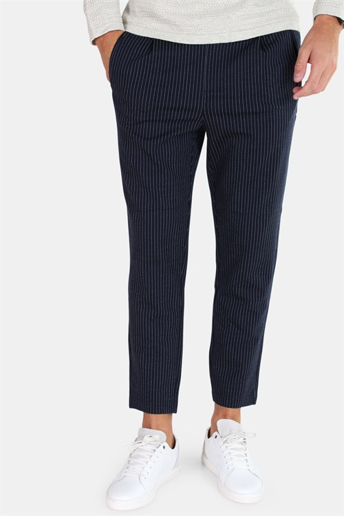 Jack & Jones Vega Trash Pinstripe Navy Blazer