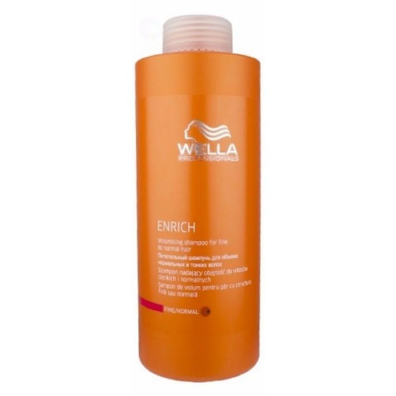 Wella Enrich Volumising Shampoo Fint/Normalt 1000 ml (u. pumpe)