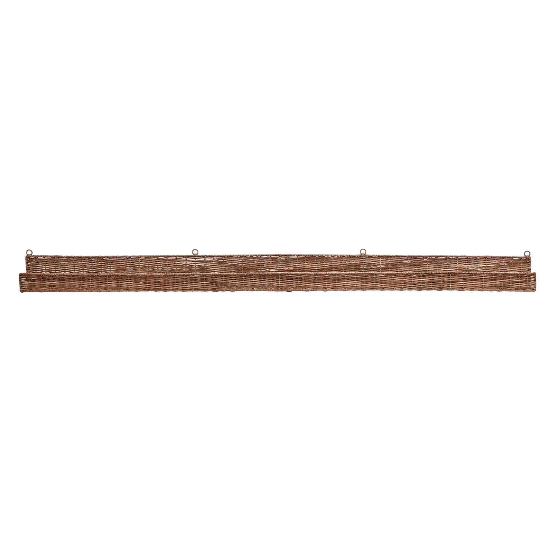 BLOOMINGVILLE Kenya væghylde - brun rattan, rektangulær (152x10)