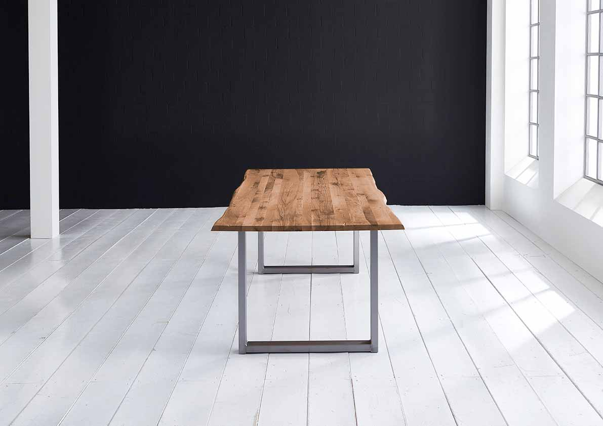 Concept 4 You plankebord - eg, m. barkkant og Manhattan ben, m. udtræk (180-260x100) 3 cm 260 x 100 cm 07 = mocca black