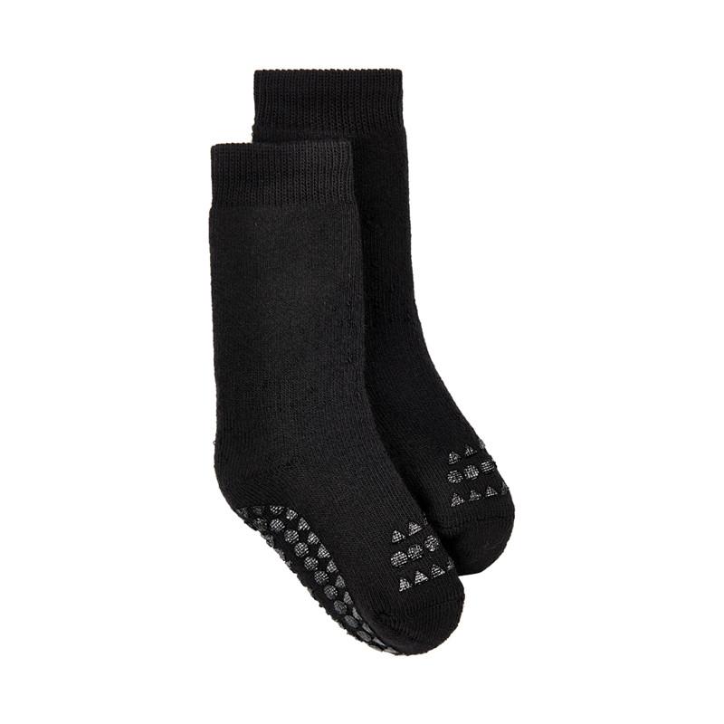 GOBABYGO NON-SLIP STRØMPER (Black, 17-19 (6-12M))
